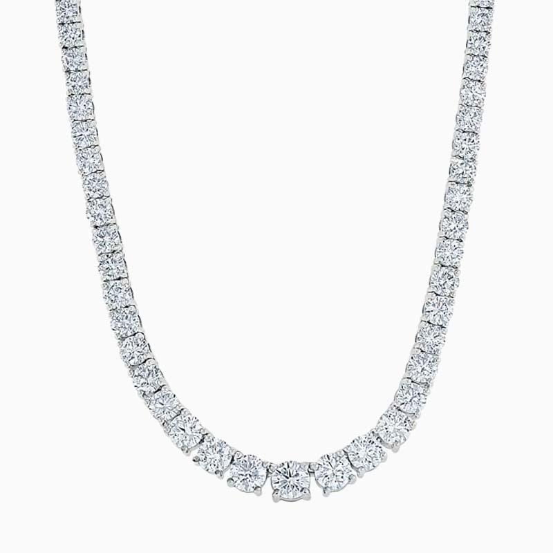 18ct White Gold Graduated Diamond Necklace