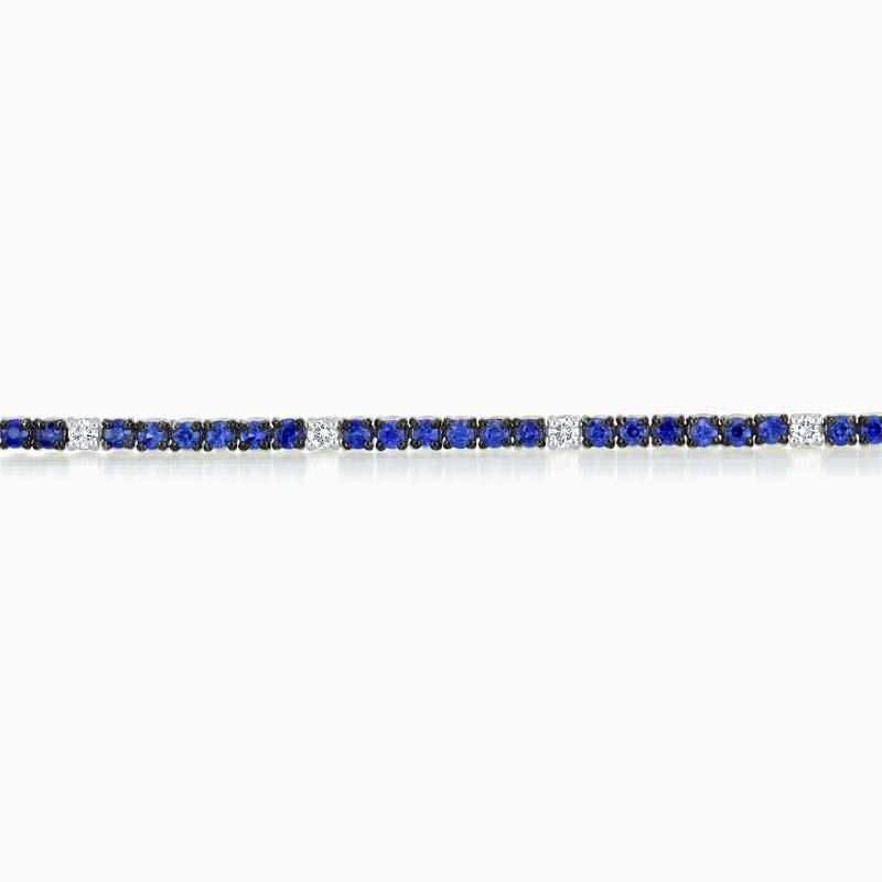 18ct White Gold Sapphire & Diamond Bracelet