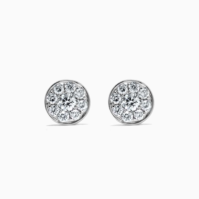 18ct White Gold Small Round Clusters