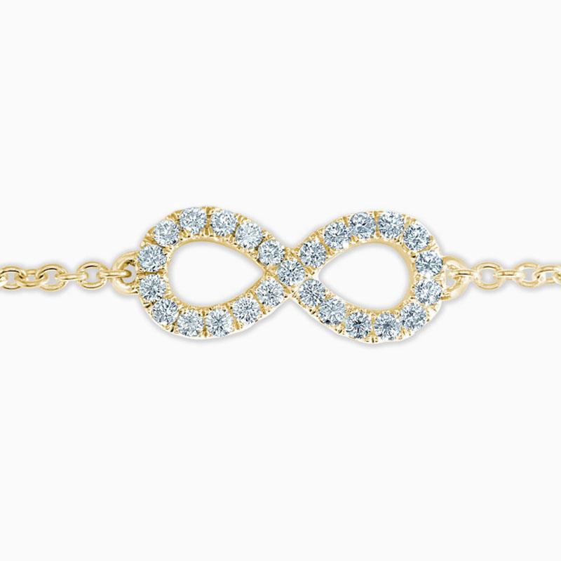 18ct Yellow Gold Infinity Motif Charm Bracelet