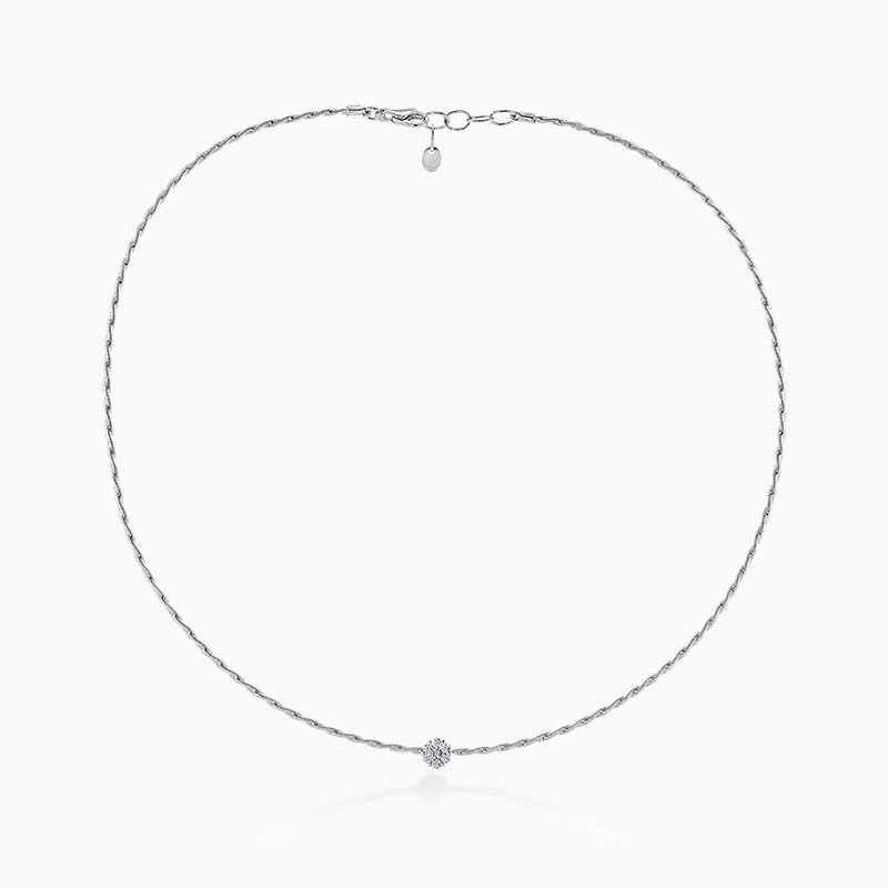 18ct White Gold Florence Entwined Diamond Necklace