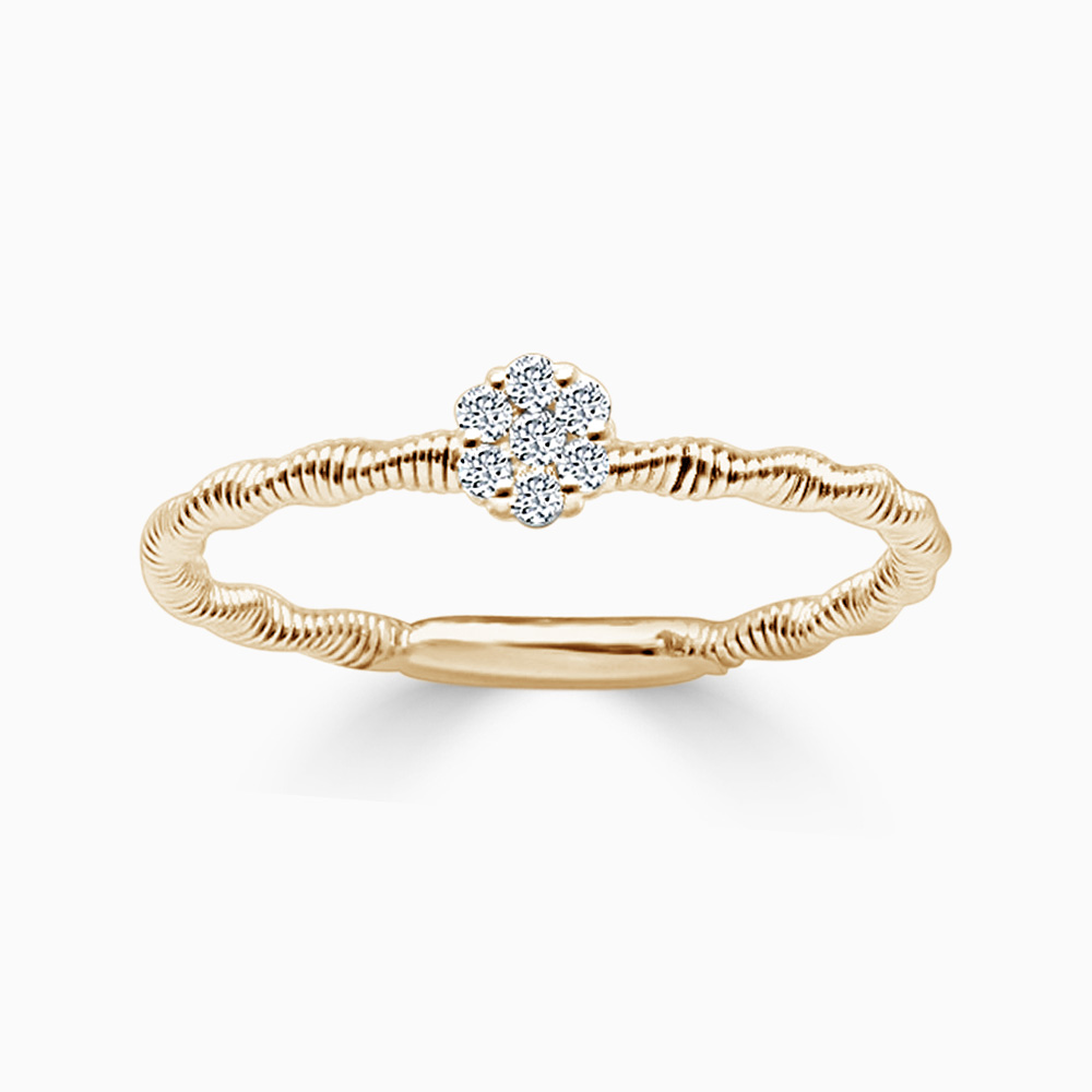 18ct Rose Gold Florence Entwined Diamond Ring