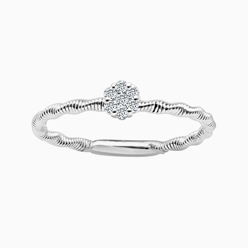 18ct White Gold Florence Entwined Diamond Ring