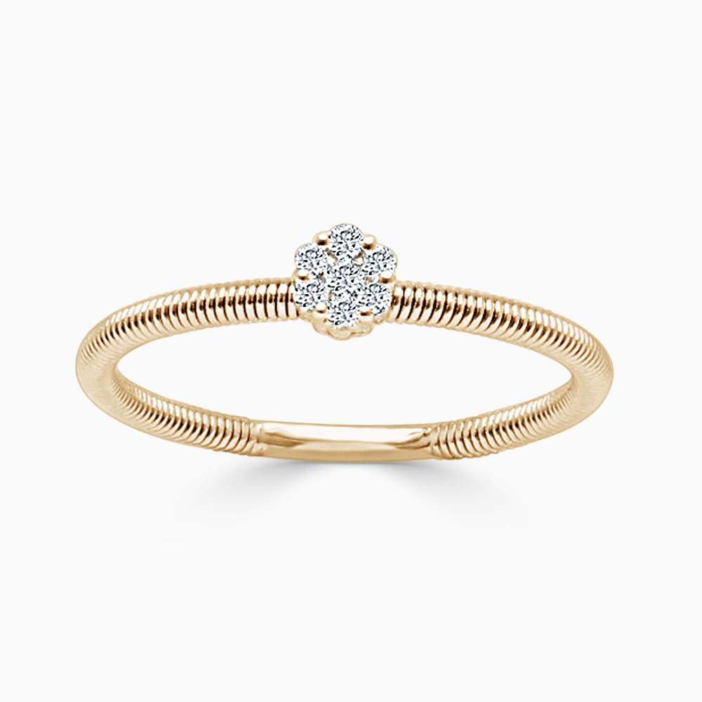18ct Rose Gold Florence Diamond Ring