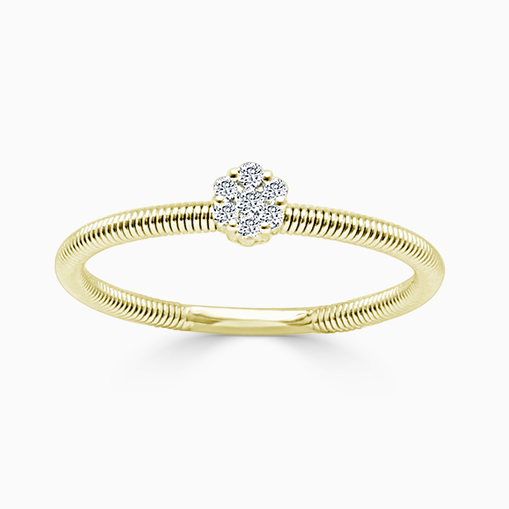 18ct Yellow Gold Florence Diamond Ring