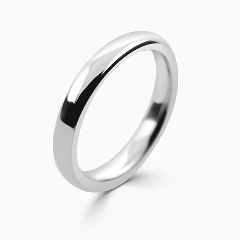Platinum 3mm Slight Court Heavy Weight Wedding Ring