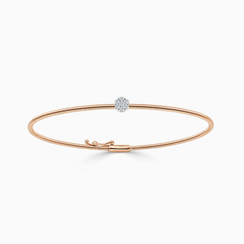 18ct Rose Gold Florence Diamond Bangle