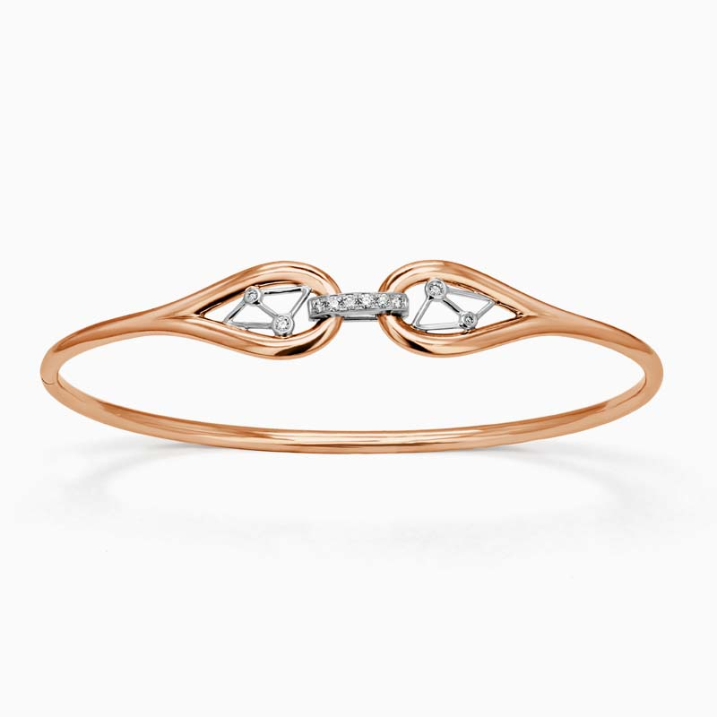 18ct Rose Gold Constellation Diamond Bangle