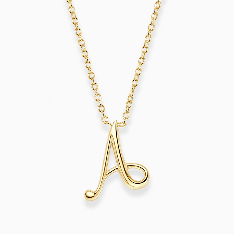 18ct Yellow Gold A - Initial Pendant