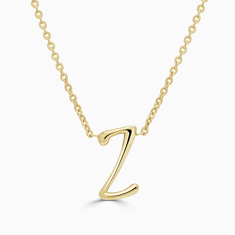 18ct Yellow Gold Z - Initial Pendant