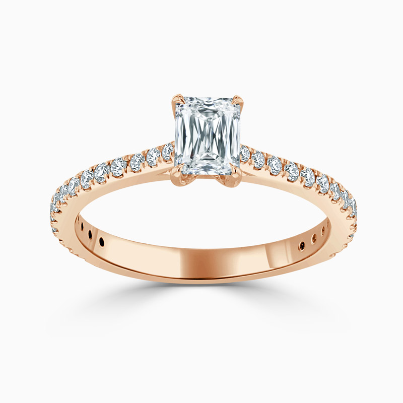 18ct Rose Gold Crisscut Classic Wedfit Cutdown Engagement Ring with Crisscut, 0.53ct, G Colour, VVS1 Clarity - GIA