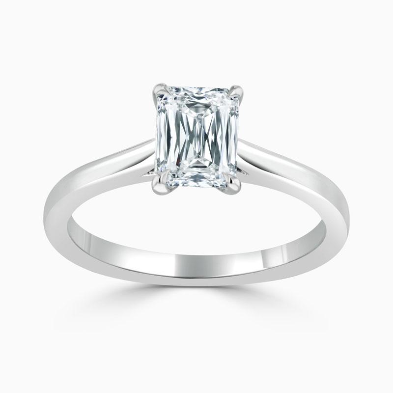 Platinum Crisscut Classic Wedfit Engagement Ring with Crisscut, 2.02ct, G Colour, VVS1 Clarity - GIA