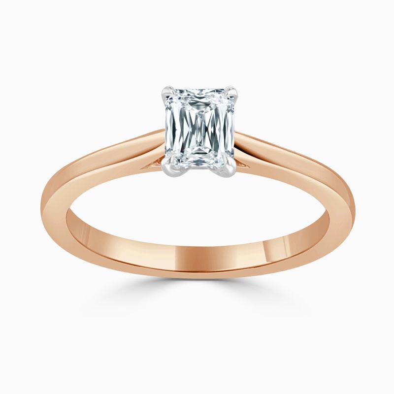 18ct Rose Gold Crisscut Classic Wedfit Engagement Ring with Crisscut, 0.59ct, G Colour, VVS2 Clarity - GIA