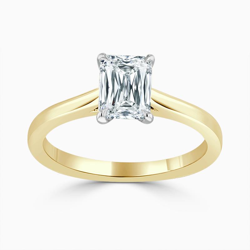 18ct Yellow Gold Crisscut Classic Wedfit Engagement Ring with Crisscut, 1.02ct, E Colour, VVS2 Clarity - GIA