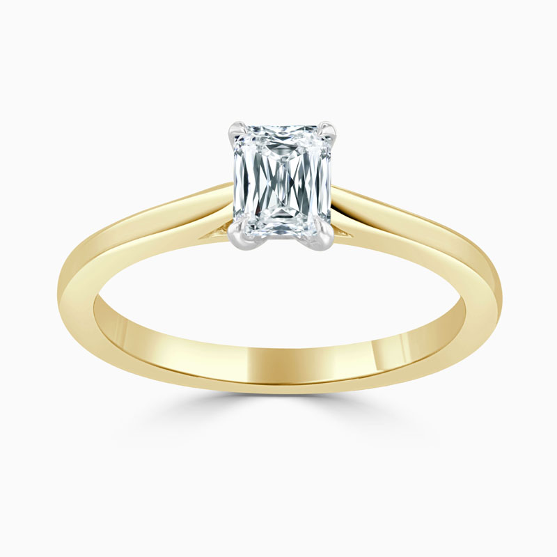 18ct Yellow Gold Crisscut Classic Wedfit Engagement Ring with Crisscut, 0.78ct, G Colour, VS1 Clarity - GIA