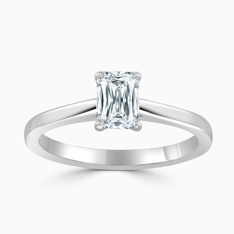 Platinum Crisscut Classic Wedfit Engagement Ring with Crisscut, 0.72ct, E Colour, VVS1 Clarity - GIA
