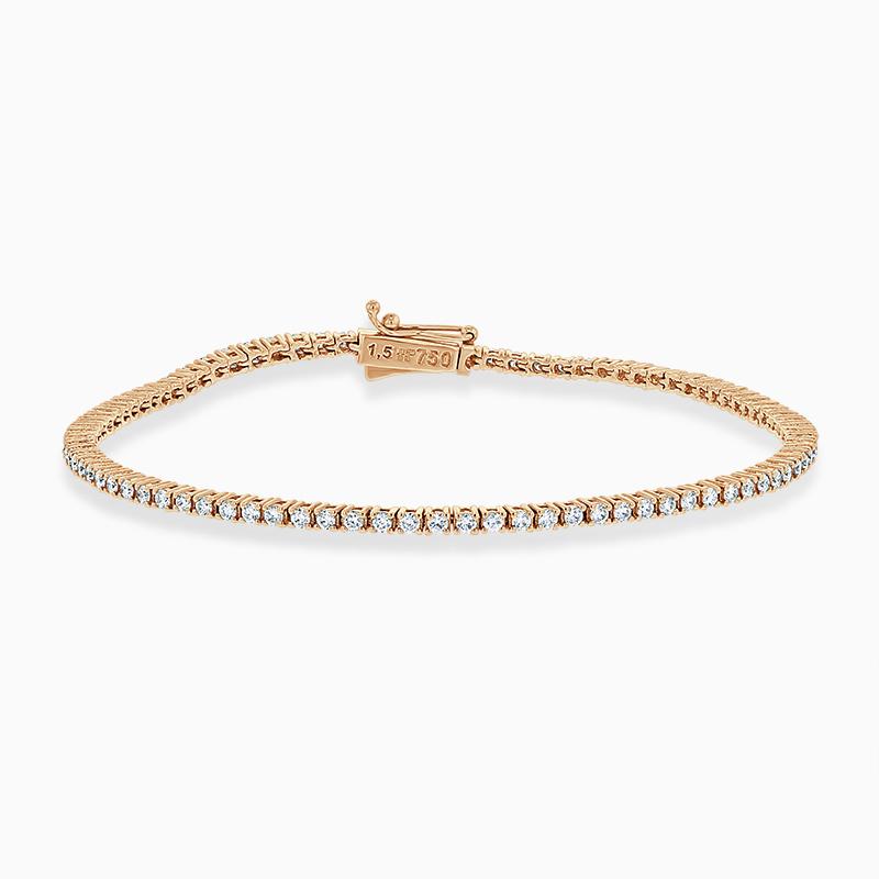 18ct Rose Gold Diamond Line Bracelet (1.20ct)