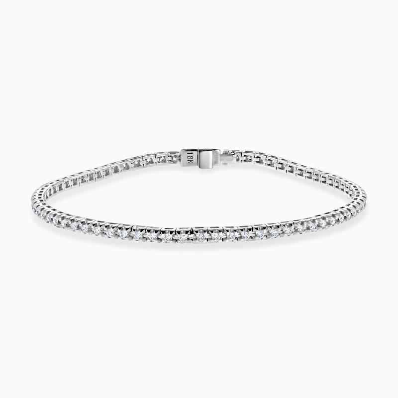 18ct White Gold Diamond Line Bracelet (0.75ct)