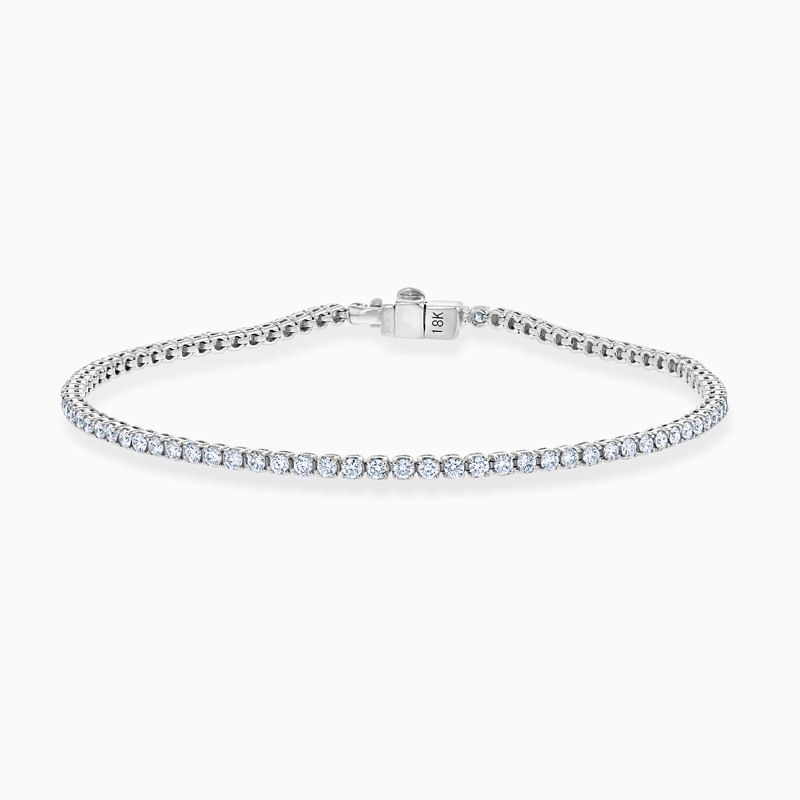 18ct White Gold Diamond Line Bracelet (1.75ct)