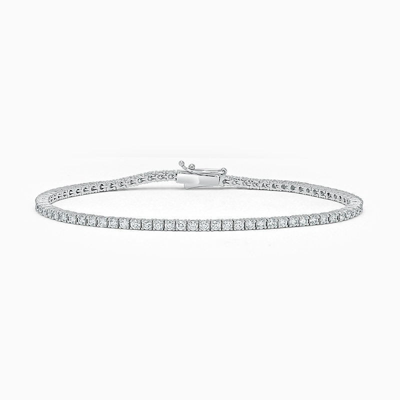 18ct White Gold Diamond Line Bracelet (2.00ct)