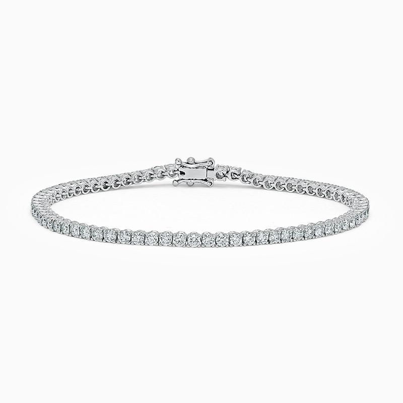 18ct White Gold Diamond Line Bracelet (3.75ct)