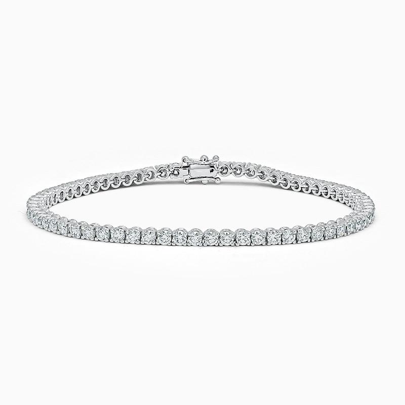 18ct White Gold Diamond Line Bracelet (5.00ct)