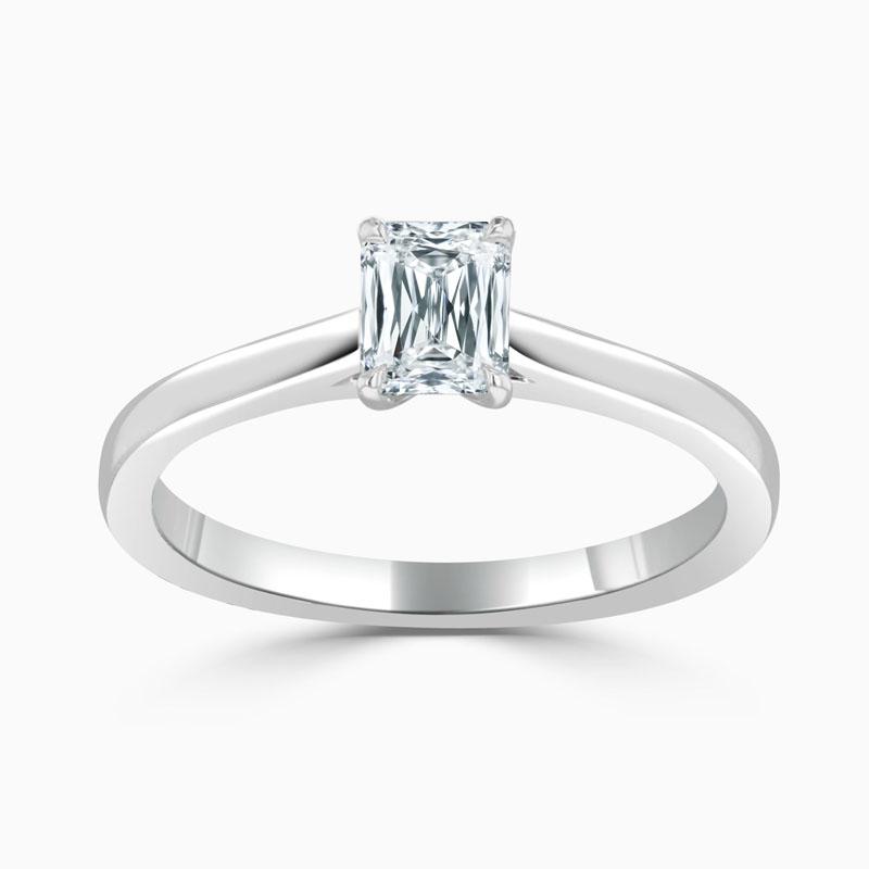 Platinum Crisscut Classic Wedfit Engagement Ring with Crisscut, 0.5ct, F Colour, VS1 Clarity - GIA