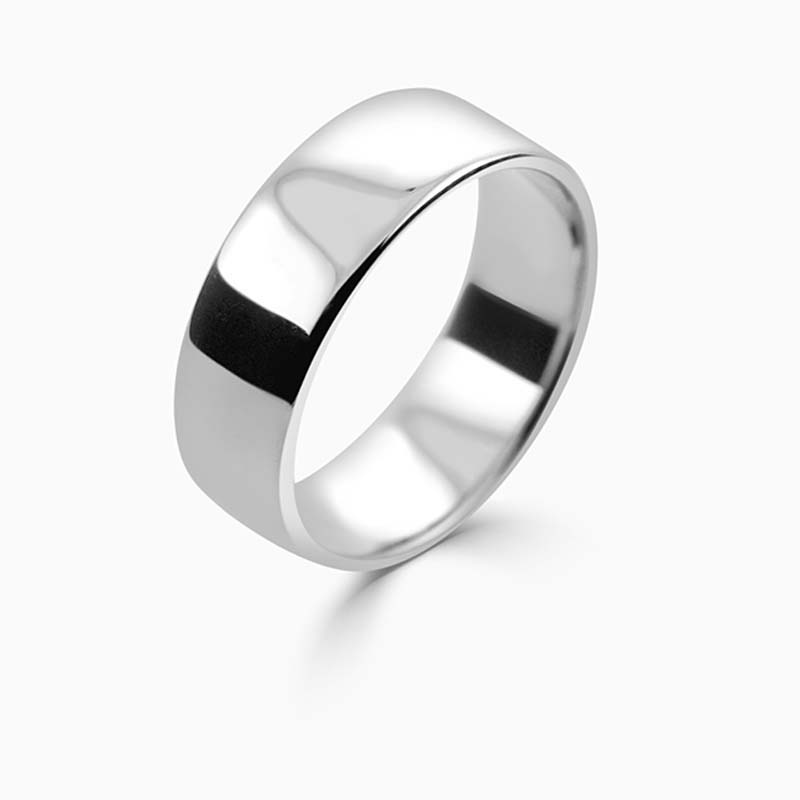Palladium 7mm Slight Court Light Weight Wedding Ring