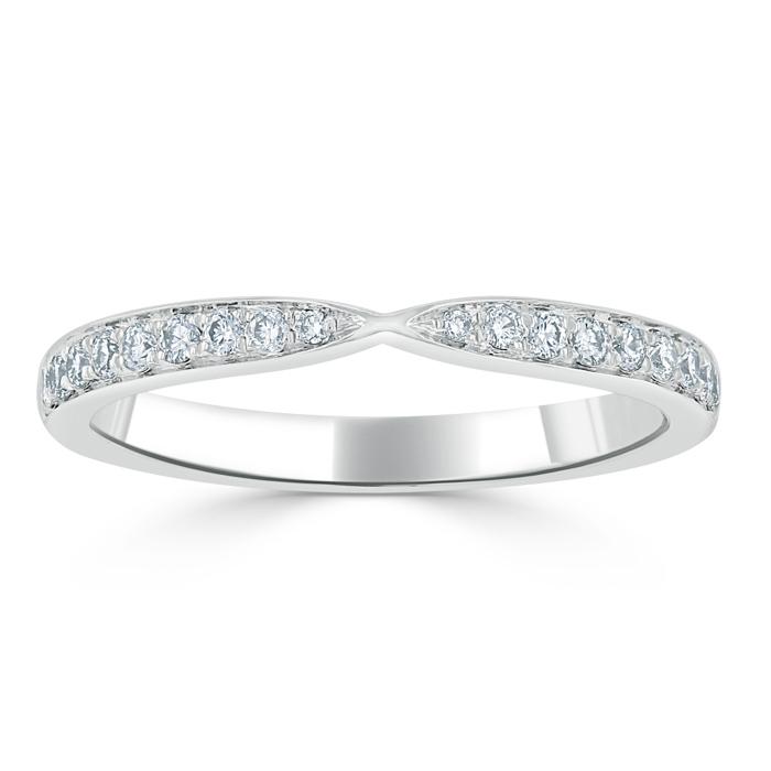 18ct White Gold Diamond Pinch Ring