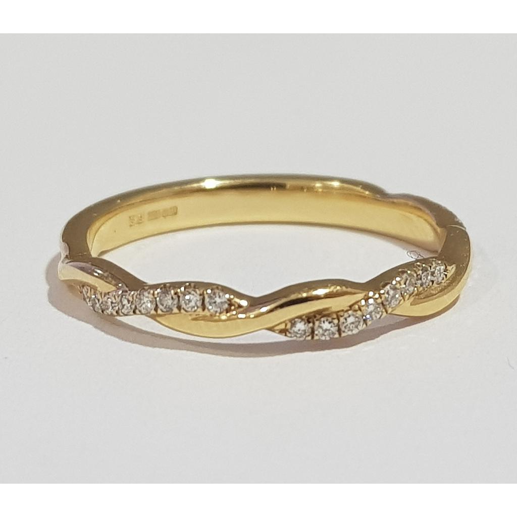 18ct Yellow Gold Woven Diamond Ring