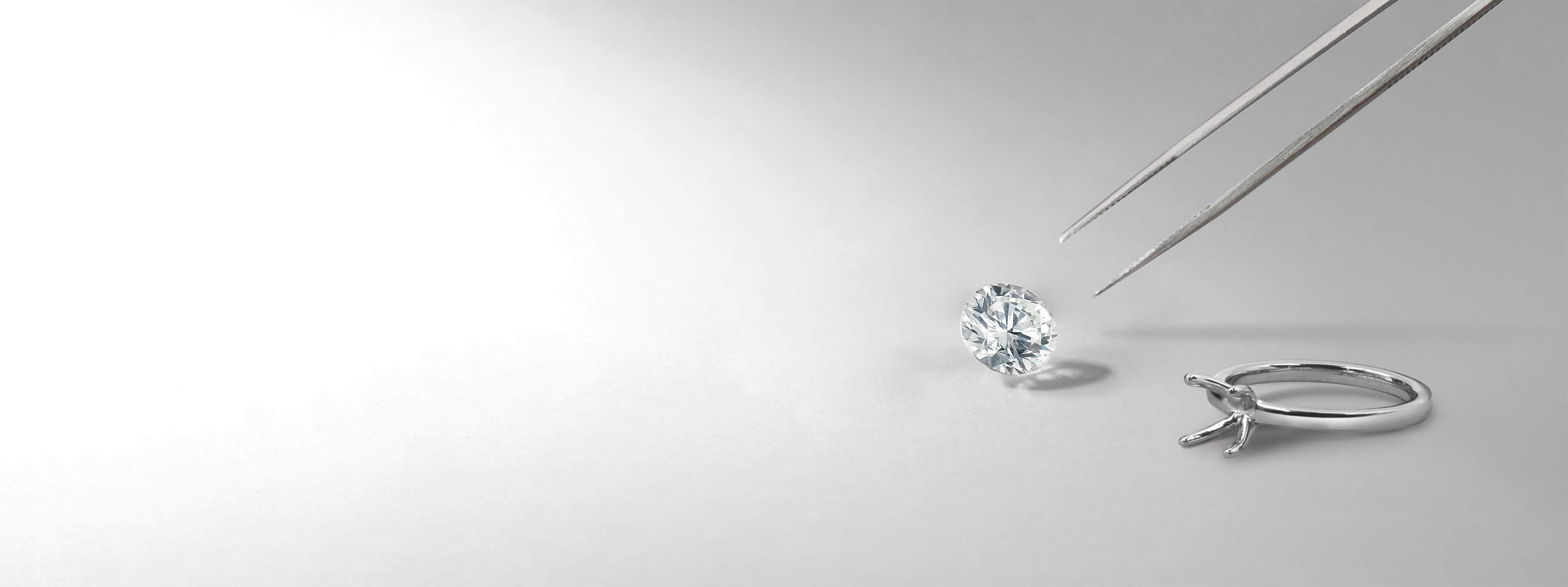 Cushion Cut Three Stone Engagement Rings