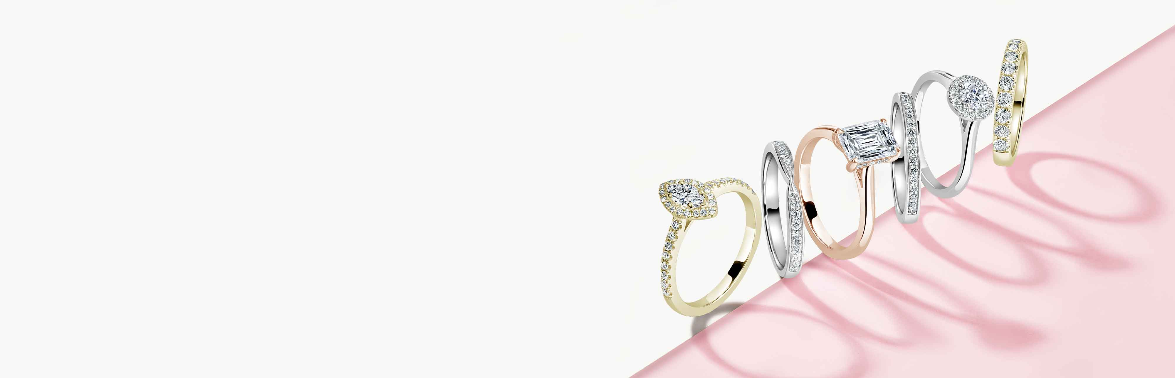 Heart Shaped Three Stone Engagement Rings
