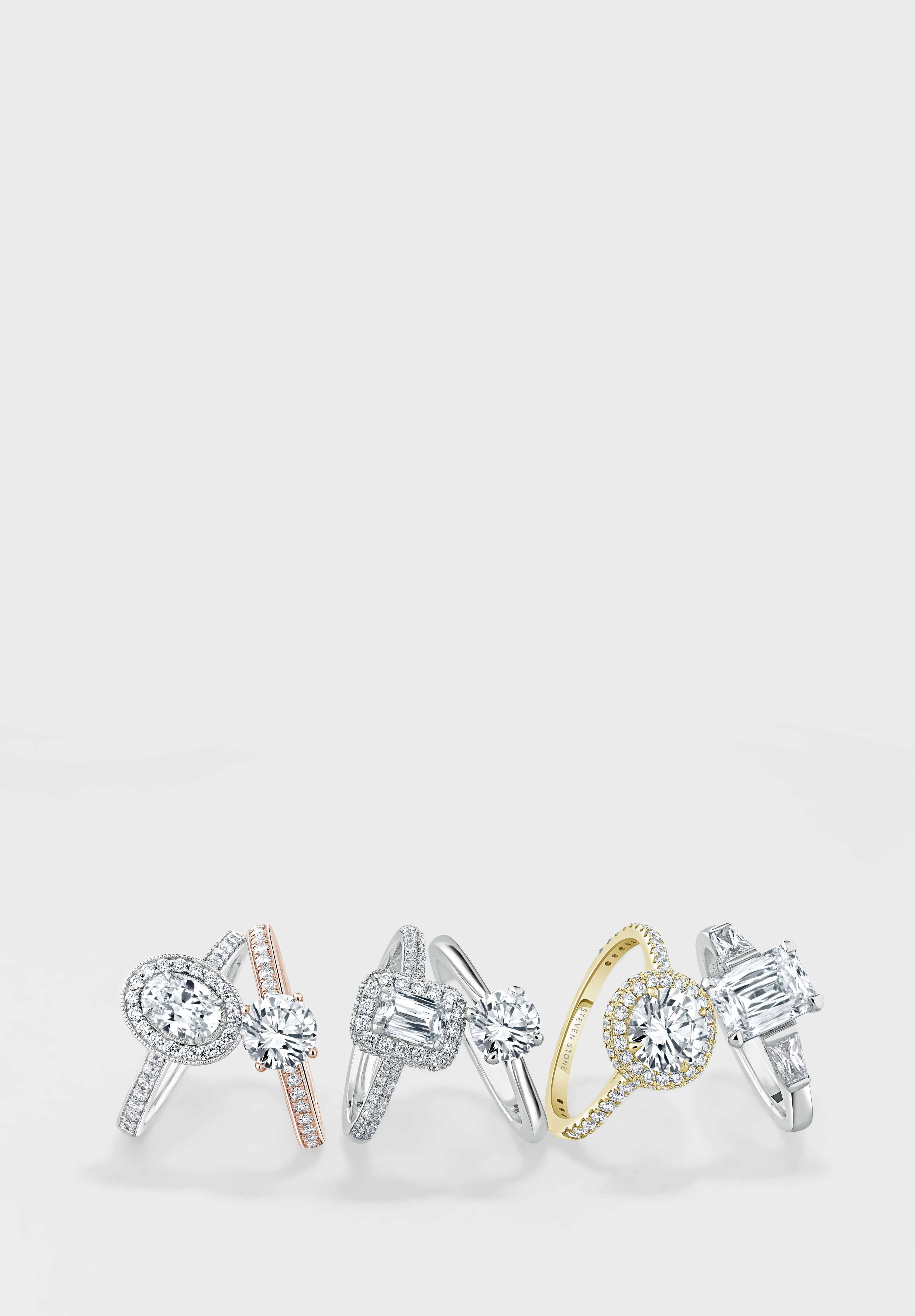 Yellow Gold Emerald Cut Engagement Rings - Steven Stone