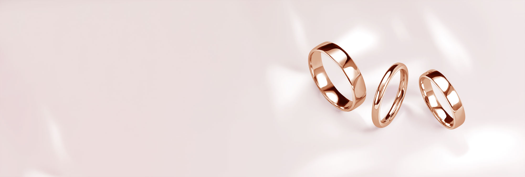 Rose Gold Wedding Rings - Steven Stone
