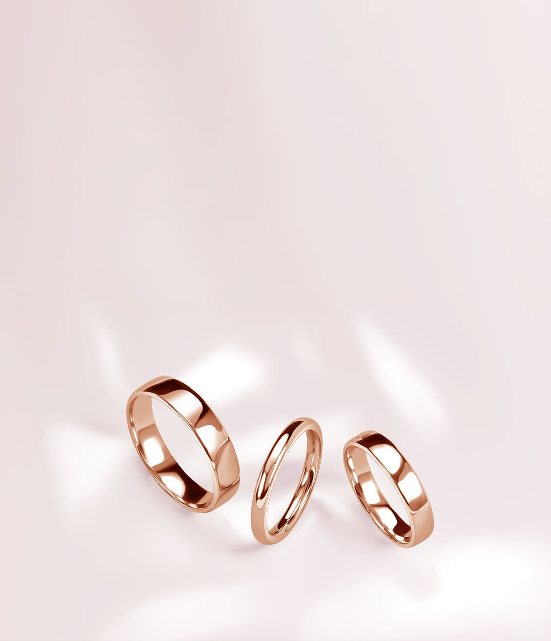 Rose Gold Wedding Rings - Steven Stone
