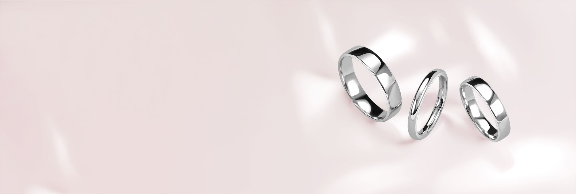 Platinum Plain Wedding Rings - Steven Stone