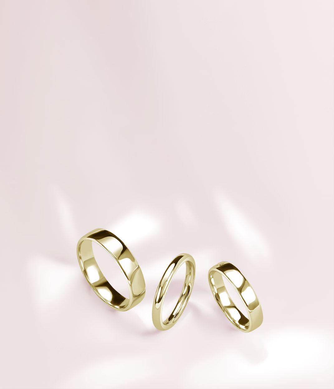 Yellow Gold Plain Wedding Rings - Steven Stone