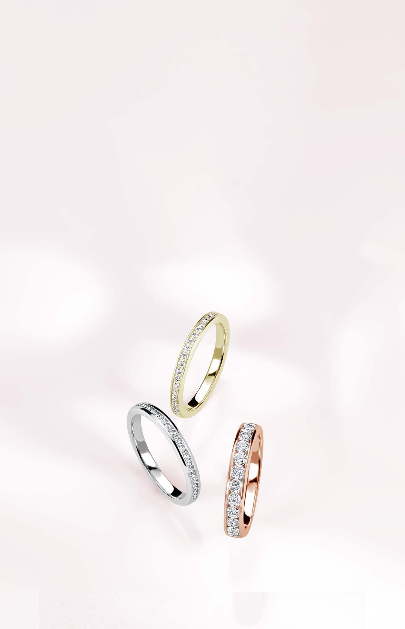 3 Quarter Eternity Diamond Rings