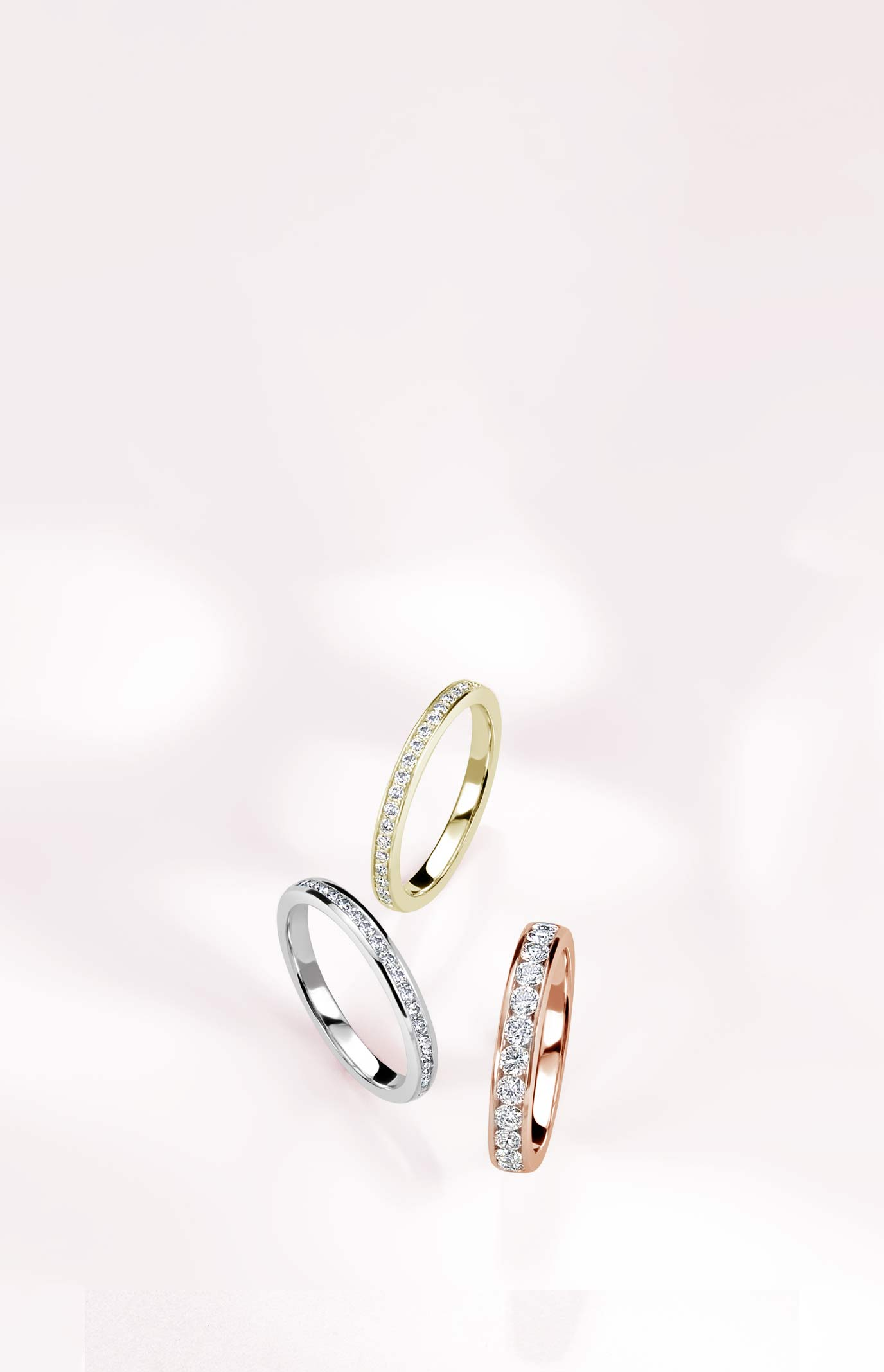 Half Eternity Diamond Rings
