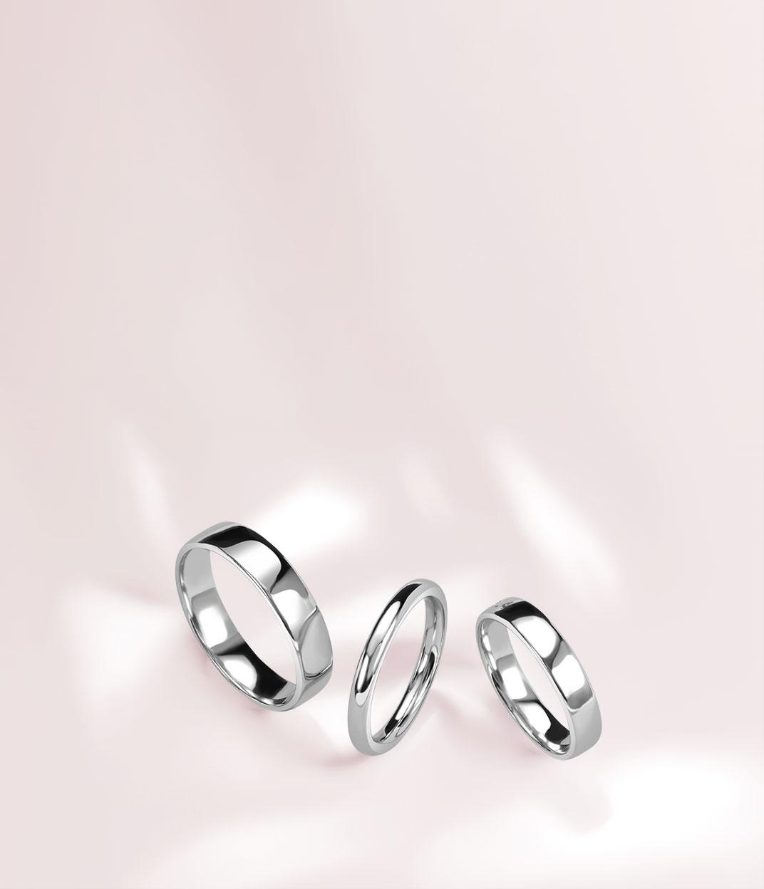 Men's White Gold Wedding Rings - Steven Stone