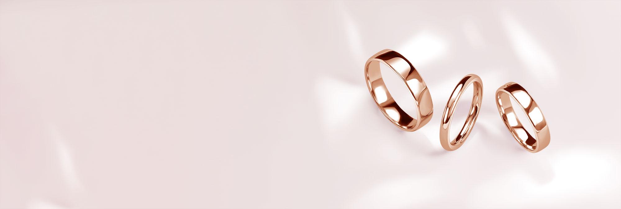 Men's Rose Gold Wedding Rings - Steven Stone