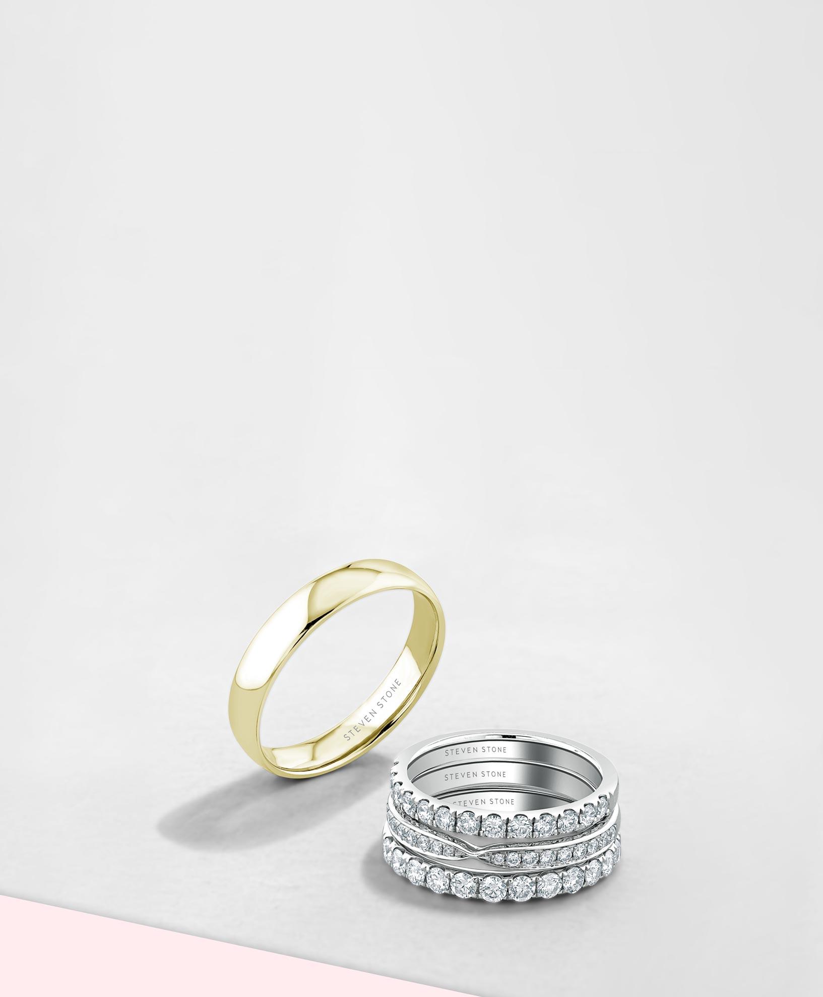 Men's Plain Wedding Rings - Steven Stone