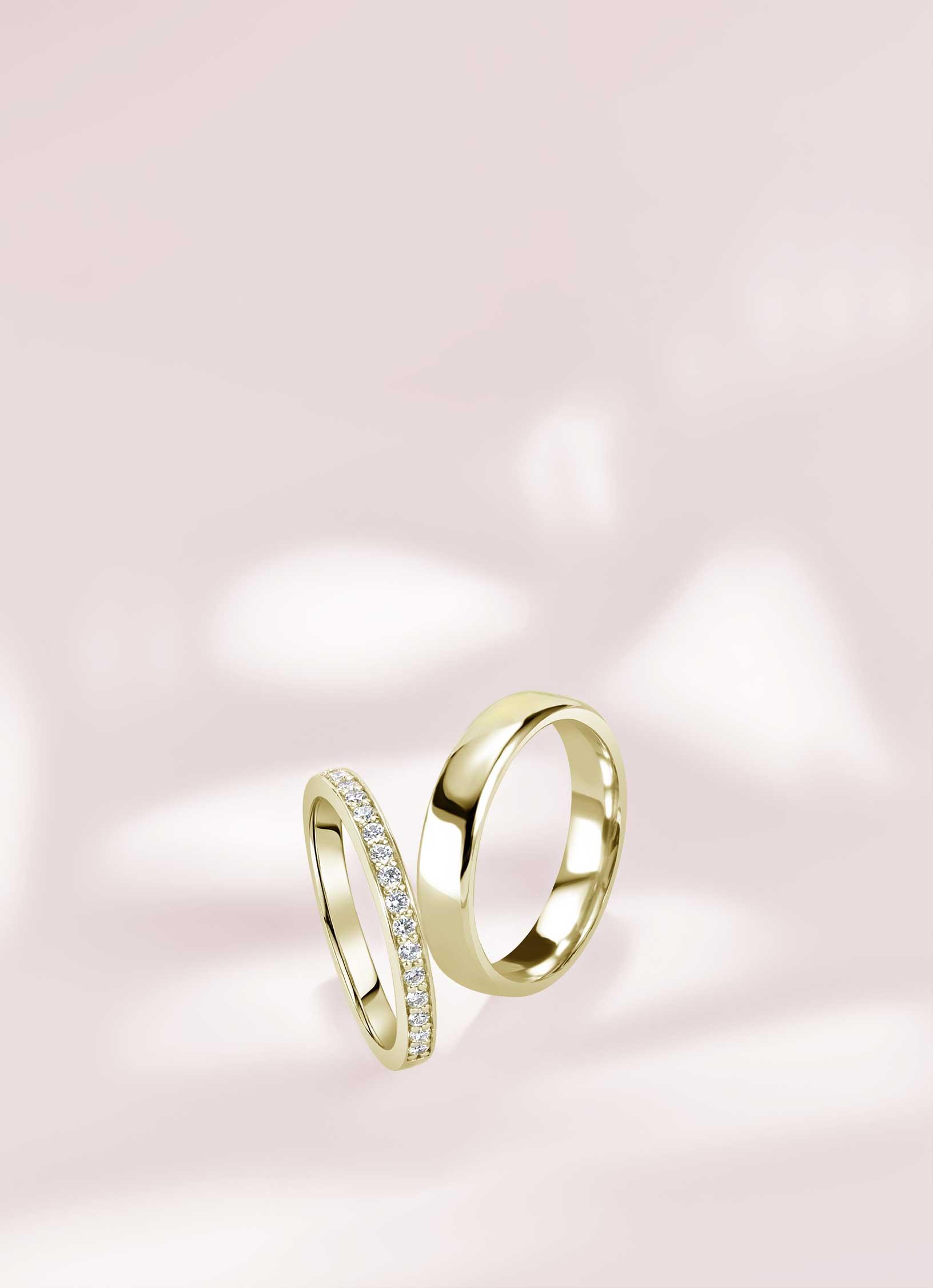 Yellow Gold Wedding Rings - Steven Stone