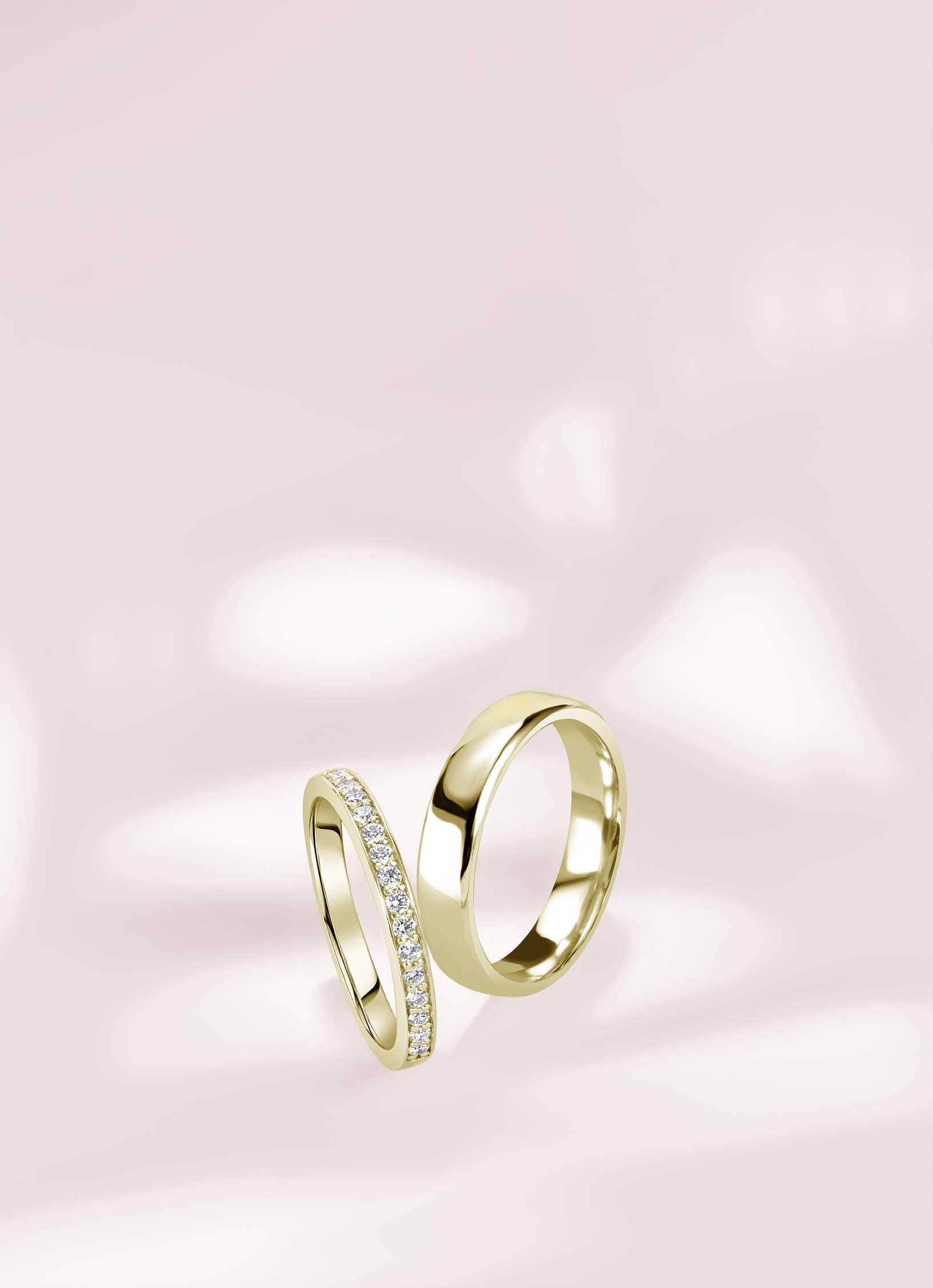 Yellow Gold Wedding Rings - Steven Stone