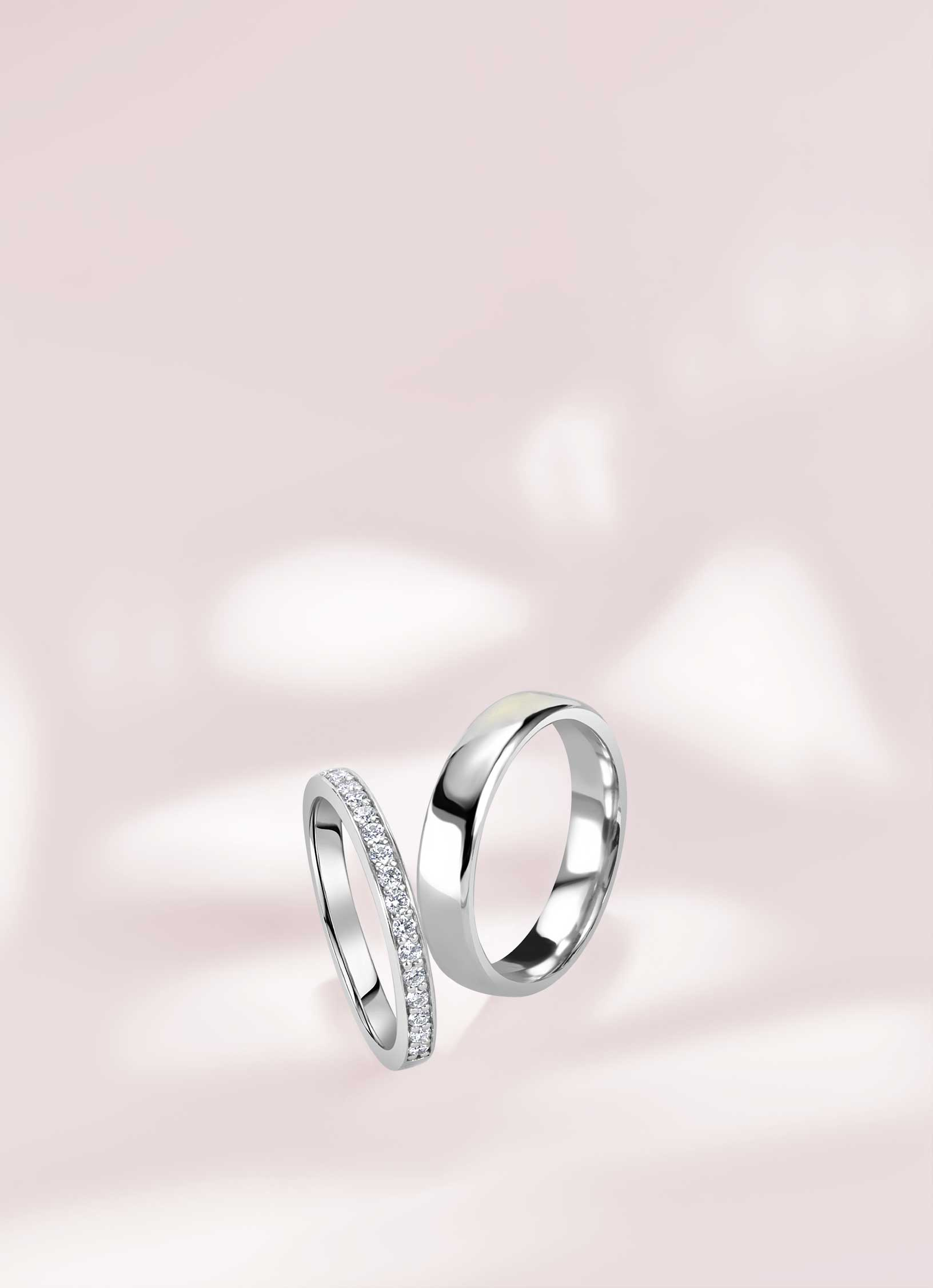 Palladium Wedding Rings - Steven Stone