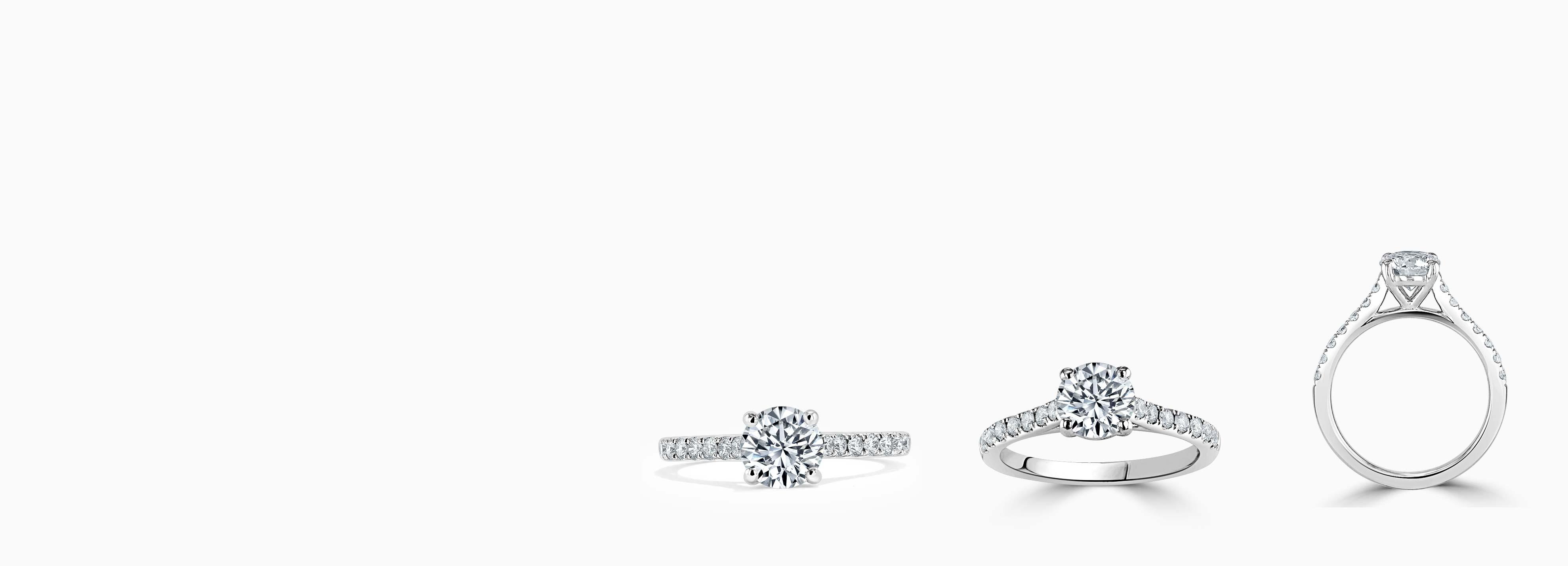 Shoulder Set Diamond Engagement Rings