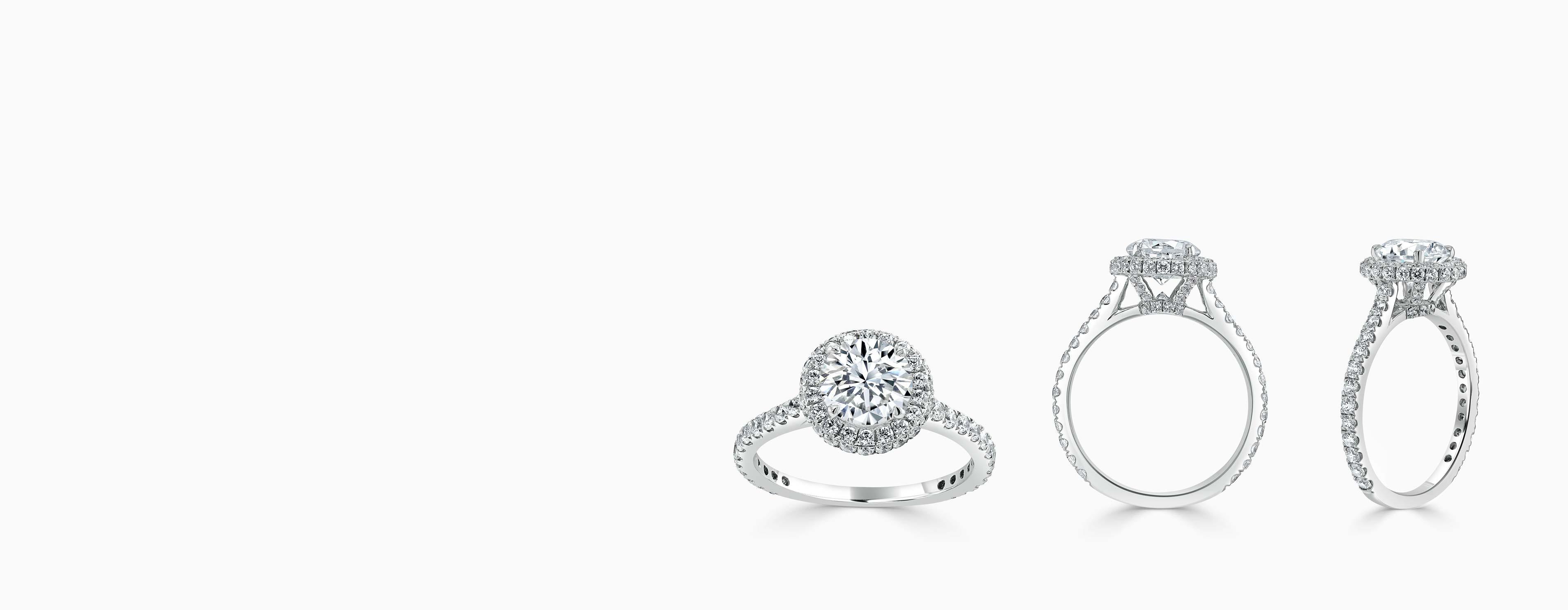 Diamond Halo Engagement Rings - Steven Stone