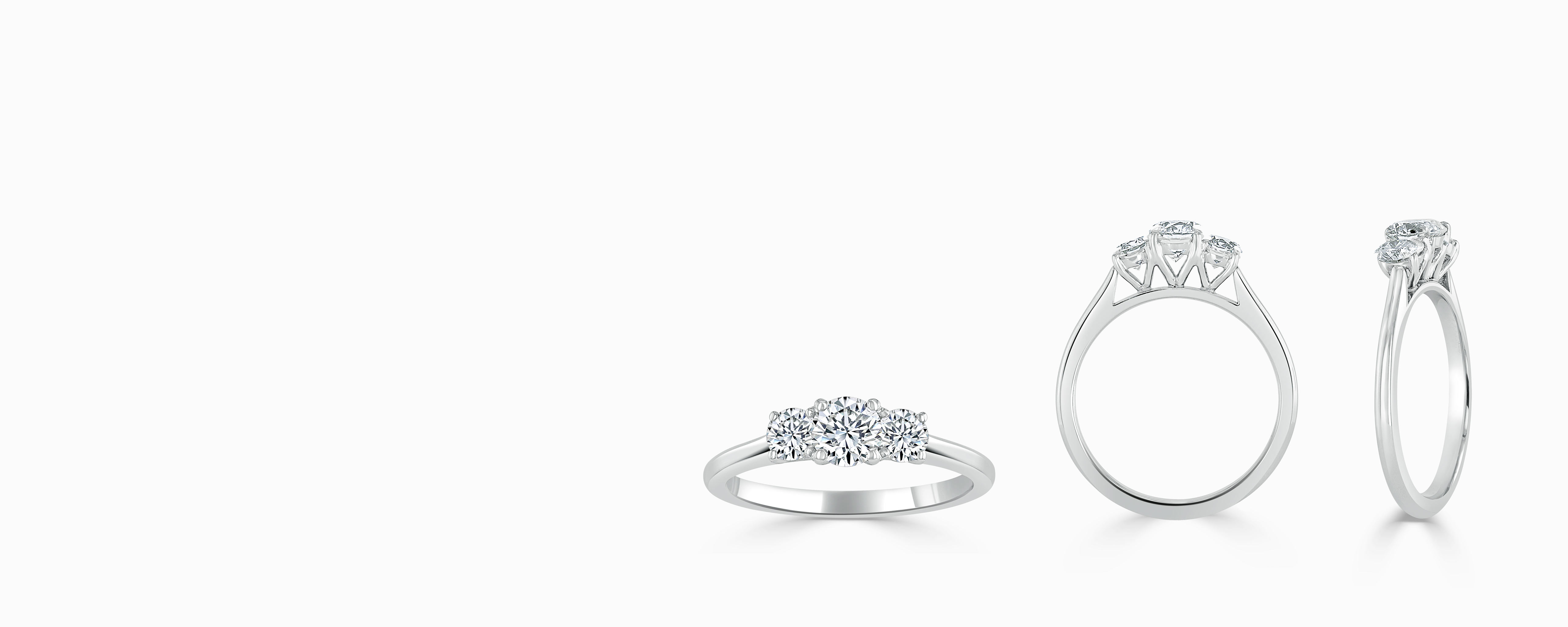 Three Stone Diamond Engagement Rings - Steven Stone