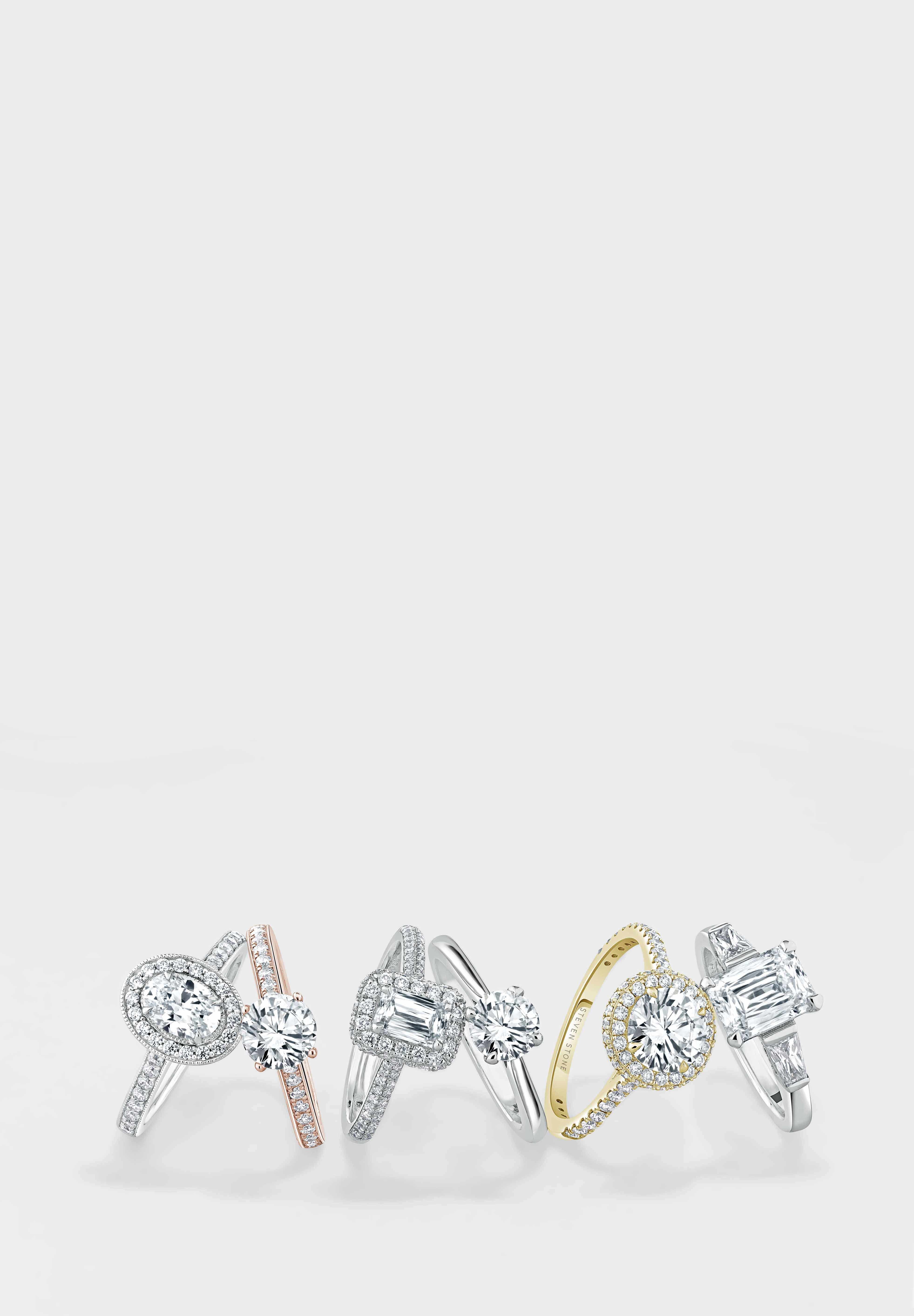 Yellow Gold Shoulder Set Engagement Rings - Steven Stone