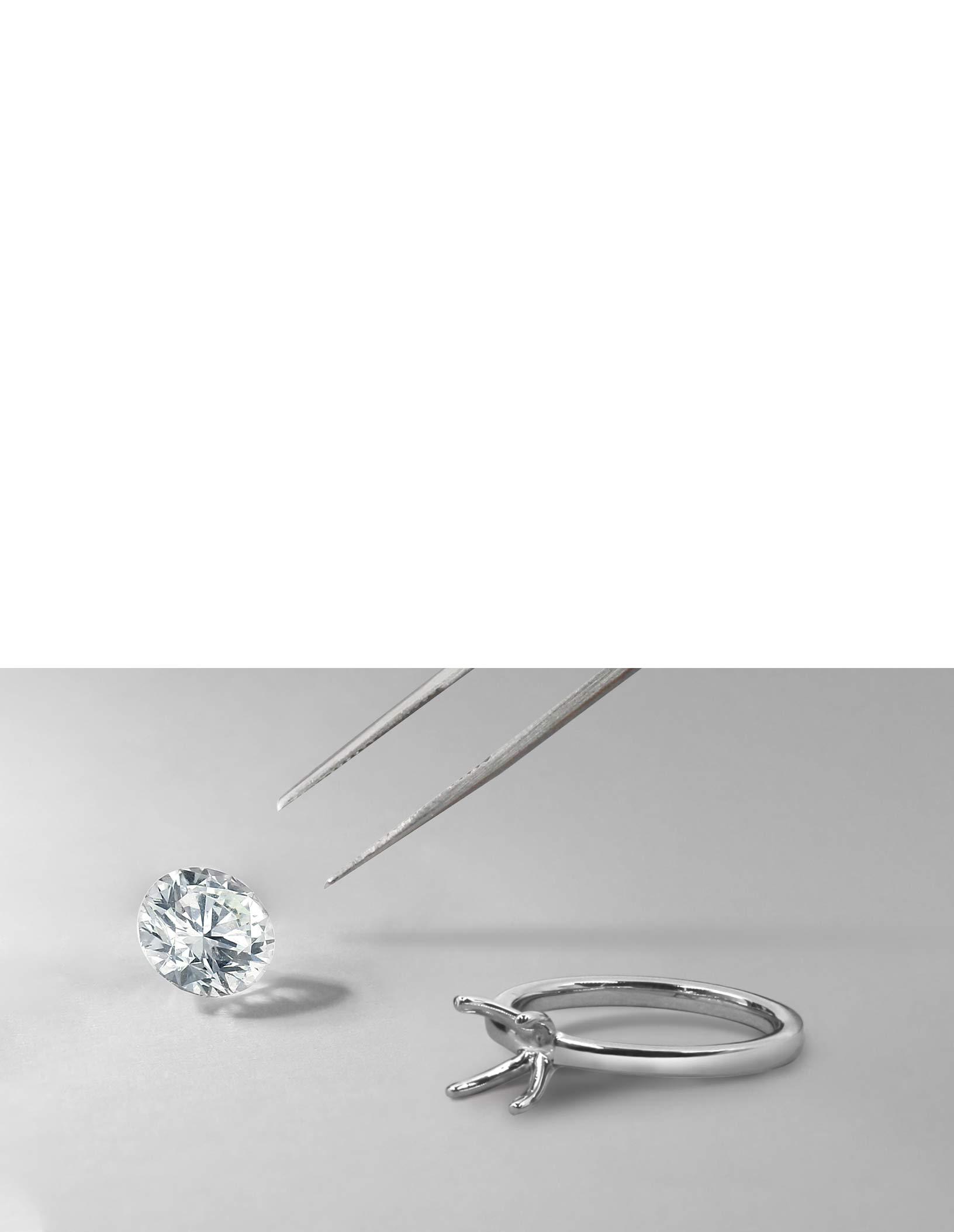 Asscher Cut Shoulder Set Engagement Rings
